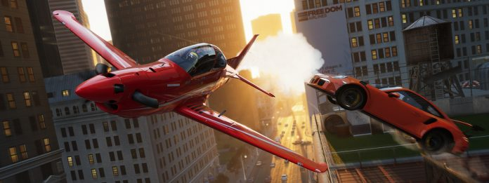 The Crew 2 Plane and Porsche in New York
