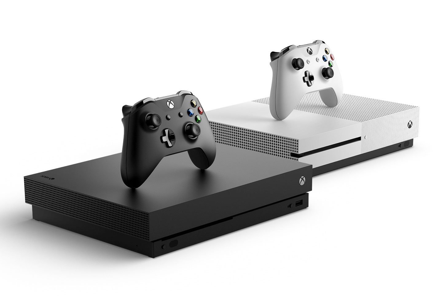 xbox-one-s next-to-xbox-one-x