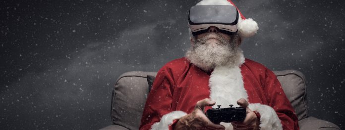 Santa Claus Playing Games