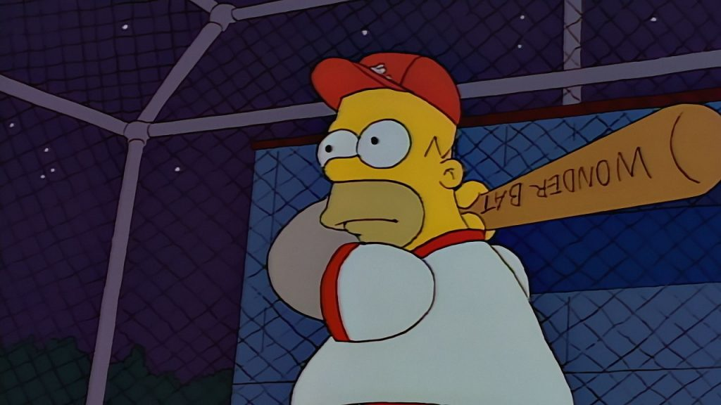 Homer in Batting Cage
