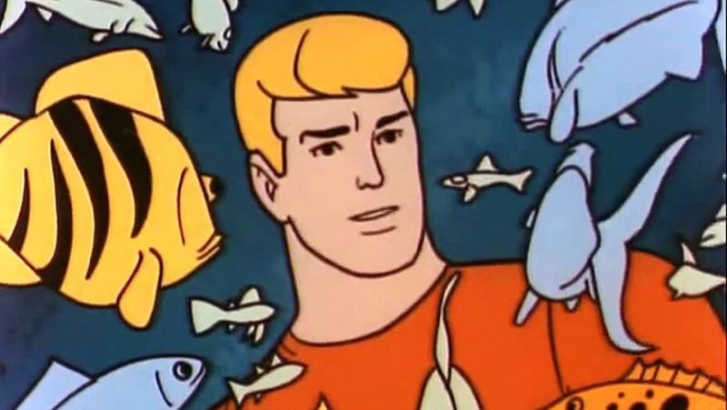 Aquaman talks to fish because he has no friends