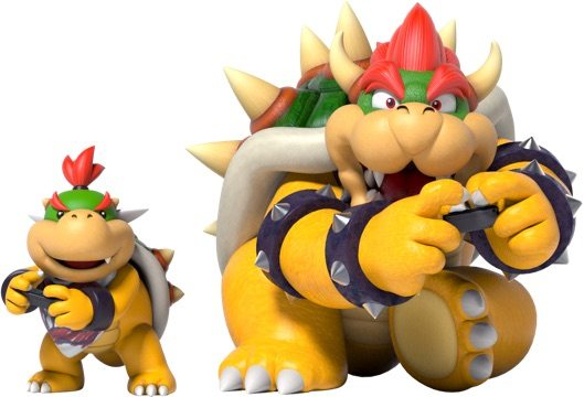 Bowser and baby bowser