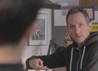 Anthony Sutcliffe on set directing