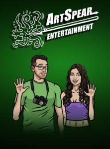 Artspear's creators Rita and Joe