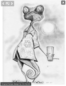 Rango very first sketch by James Byrkit