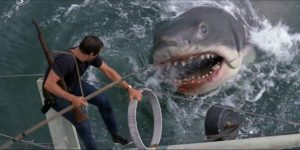 Brody and the great white shark