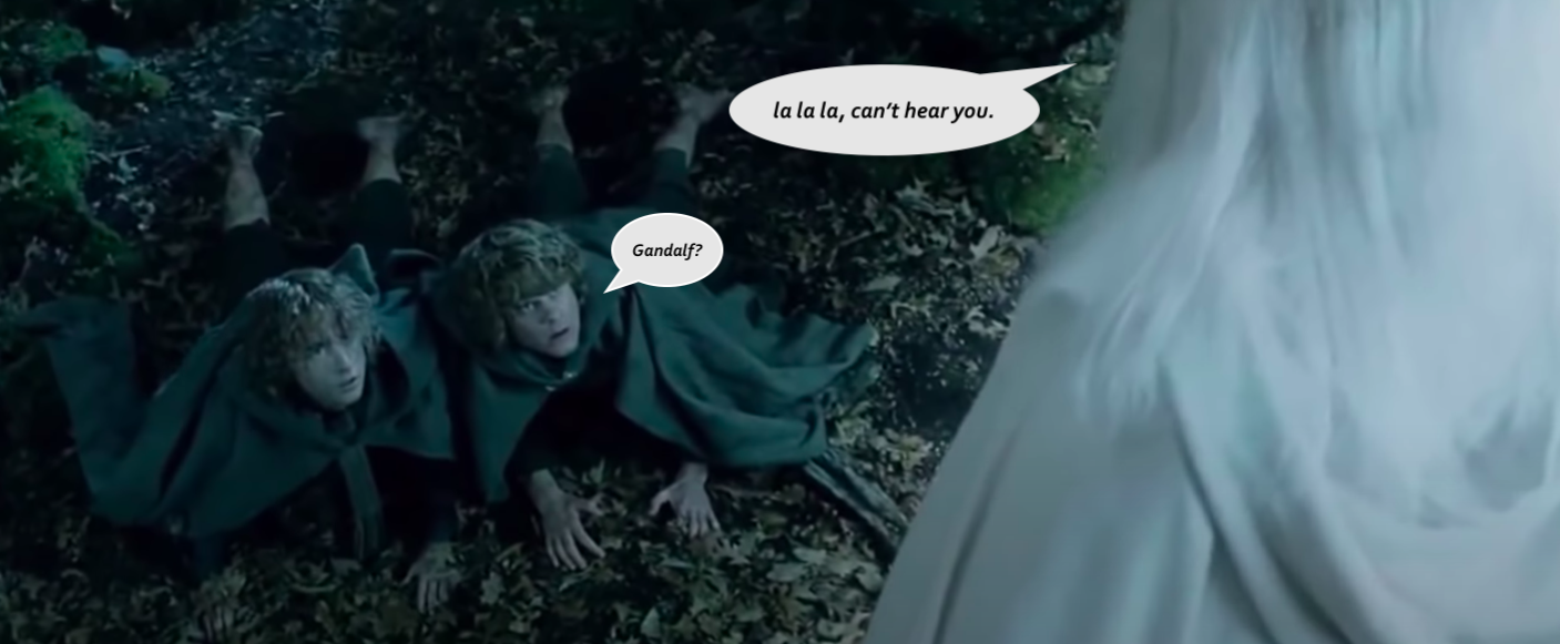 Merry & Pippin find Gandalf