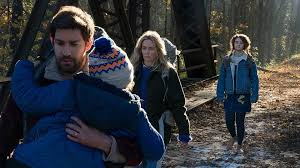The family in A Quiet Place