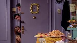 Phoebe, Rachel, Ross and Joey are locked out after arriving late for Thanksgiving