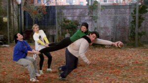 The gang plays football
