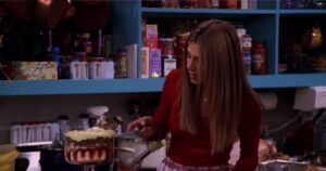 Rachel makes trifle for Thanksgiving