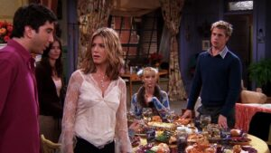 Brad Pitt comes for dinner in the season 8 Friends Thanksgiving episodes