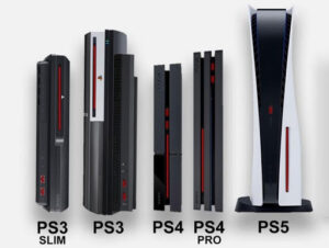 Playstation size comparisons