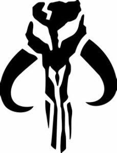 The Mandalorian symbol: Mythosaur