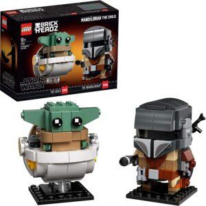 Lego Mando and Baby Yoda