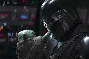 The Mandalorian cradles Baby Yoda