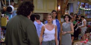 A hot party in the season 2 Friends Christmas episode