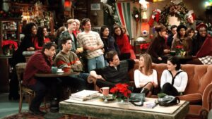 The gang gather for Christmas in season 4
