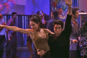 Monica and Ross get the routine down