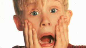 Macauley Caulkin as Home Alone's Kevin