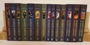 The 14 novels that make up The Wheel Of Time series
