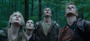 Some tributes team up in the early stages of the Hunger Games