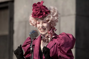 Effie looking glamourous pre-Hunger Games