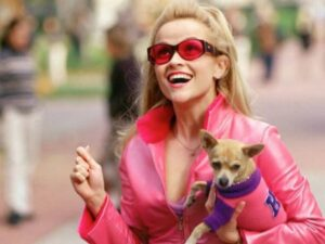 Elle Woods, played by Reese Witherspoon, the main character of Legally Blonde