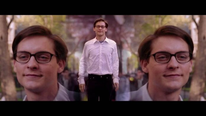 Tobey Maguire as Peter Parker in Spider-man 2