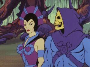 Masters Of The Universe Revelation villains Skeletor and Evil-Lyn