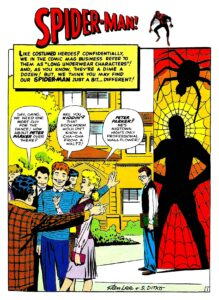 Spider-man very first page