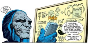 Darkseid thinking about the Anti-Life Equation.