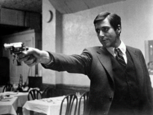 Michael Corleone (played by Al Pacino) in The Godfather.