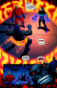 The Anti-Life Equation appearing as fiery alien letters.