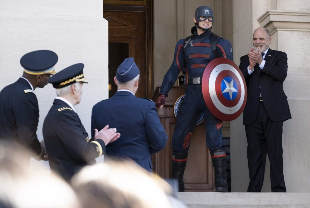 John Walker takes on the role of Captain America