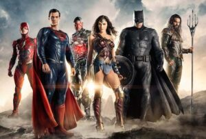 The Justice League group photo.
