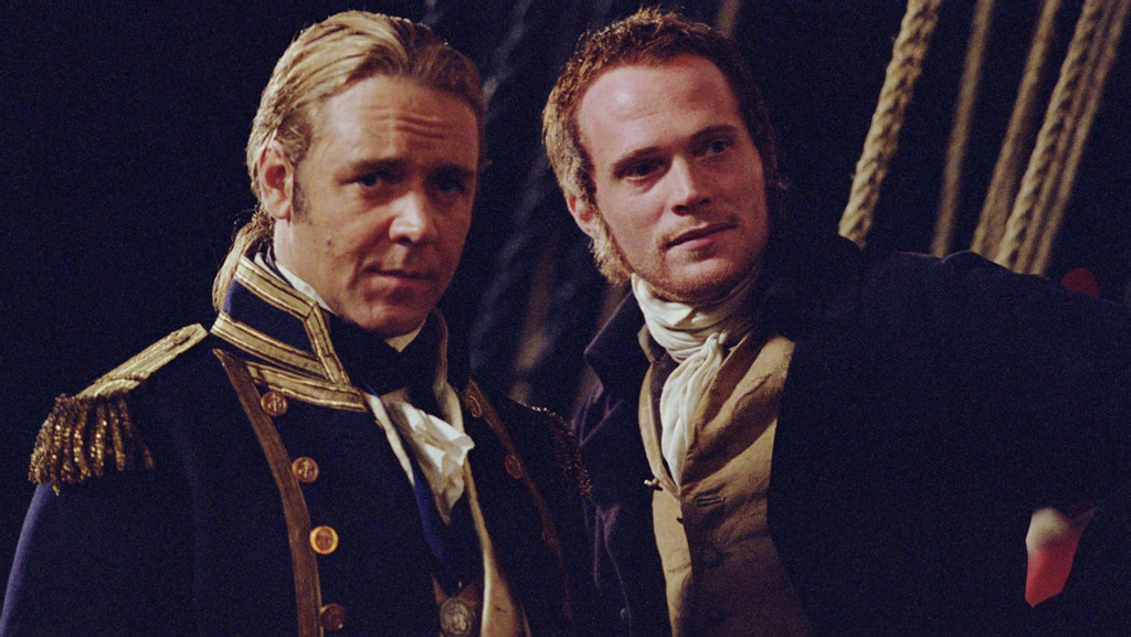 Russell Crowe and Paul Bettany in Master and Commander
