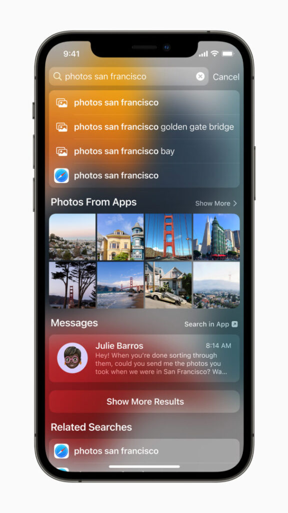 Spotlight in iOS 15 will provide richer results, using on-device intelligence