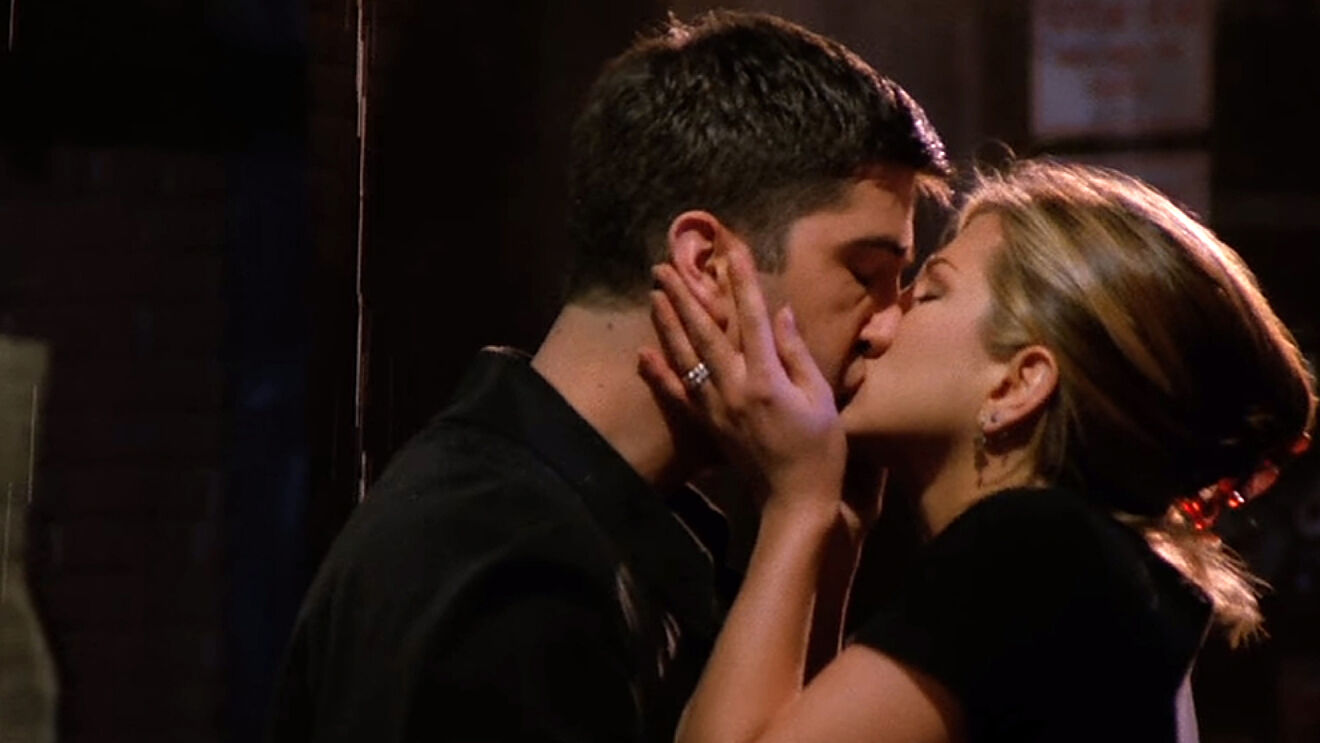 Ross and Rachel in Friends