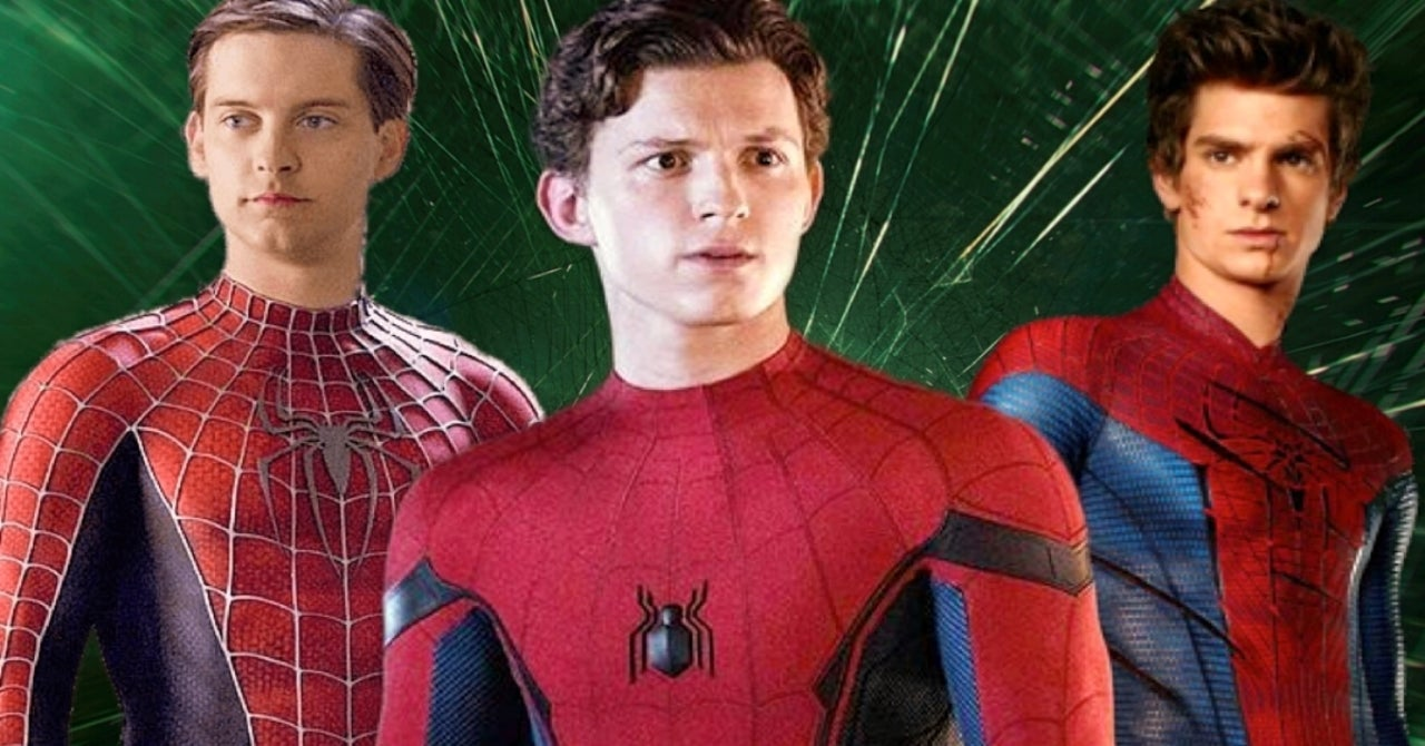 Tobey Maguire, Tom Holland and Andrew Garfield as Spider-man in Marvel Movies