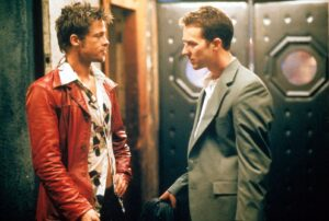 A shot from the film Fight Club.