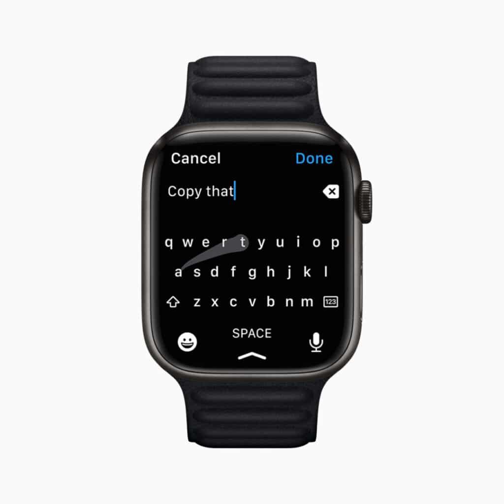 Apple Watch Series 7 keyboard