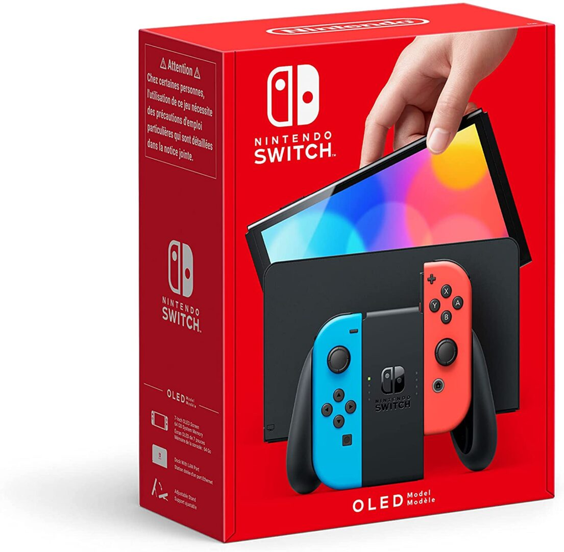 nintendo-switch-oled neon red